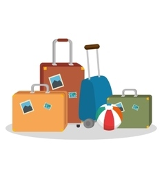 tourism equipment set icons vector image