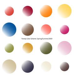 Trendy color scheme by gradient spheres vector