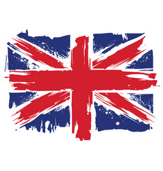 Uk grunge flag vector