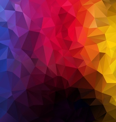 Vertical rainbow spectrum polygon triangular vector