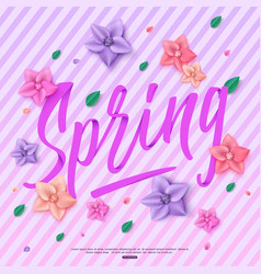 Beautiful spring background with handwritten vector