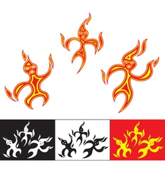 funny fiery characters vector image vector image