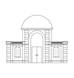 house outline icon vector image