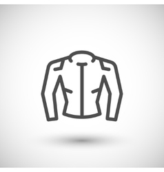 Motorcycle jacket line icon vector