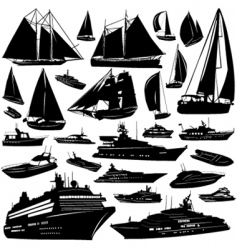 sea transportation vector image vector image