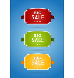 Set of colored boards with big sale sign vector image