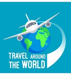 Travel around world by fast means of vector image vector image