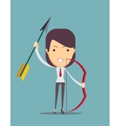 Archer with bow and arrow vector image