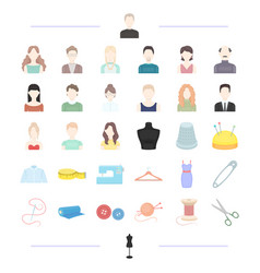 Fashion designer style and other web icon in vector