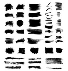 grungy shapes vector image vector image