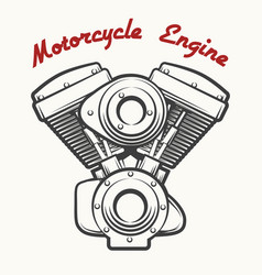 motorcycle engine emblem vector image vector image
