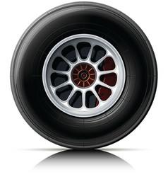 Sports car wheel vector