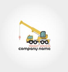 truck crane - company name vector image
