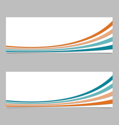Abstract banner template from thin curves - with vector