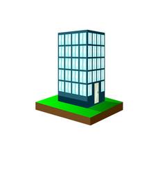 An urban scene featuring a high rise condominium vector