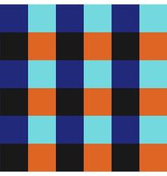 Blue orange chess board background vector