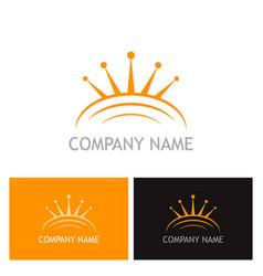 crown abstract company logo vector image vector image