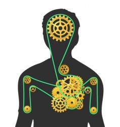 human machine vector image
