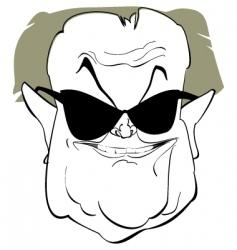 jack nicholson vector image