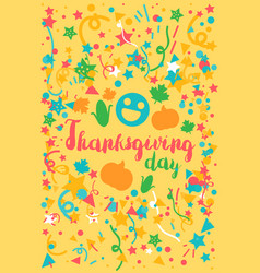thanksgiving day celebration banner vector image