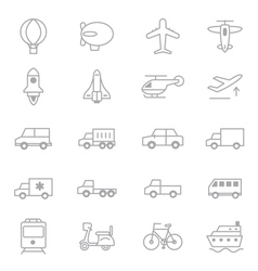 Transportation Icons Line Set Of copy vector image vector image