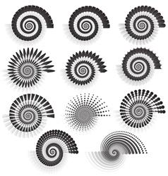 Variations of swirls vector image