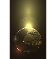 Abstract of Planet Earth in Space Stock vector image
