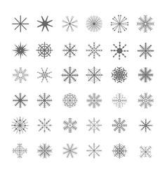 christmas snowflake set vector image vector image