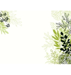 Green and black floral background backdrop vector