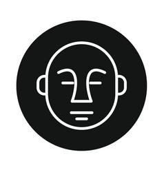 japan buddha icon isolated on white background vector image