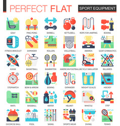 sport and fitness equipment complex flat vector image vector image
