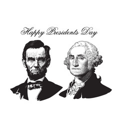 abraham lincoln and george washington vector image