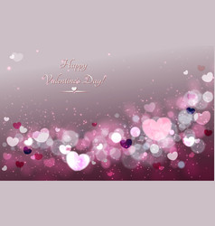 abstract glow soft hearts for valentines day vector image