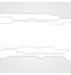 Abstract grey tech background vector