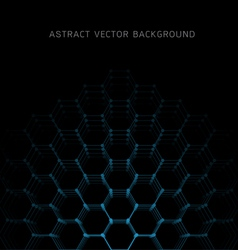 Abstract hexagon shapes background vector