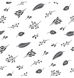 autumn leaves seamles pattern vector image