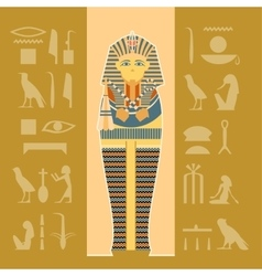 Banner of sarcophagus vector image