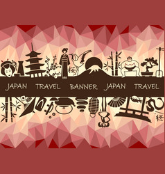 Banner on a theme of travel to japan vector