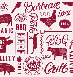 bbq grill pattern vector image