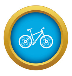 Bicycle icon blue isolated vector