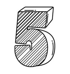 Birthday candle number in black and white vector