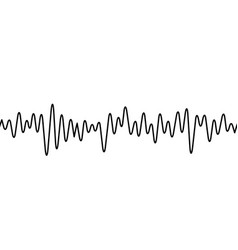 Black curvy line on white background radio wave vector