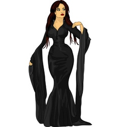 Black witch vector