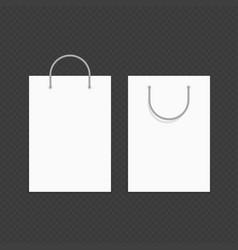 blank shopping bag mockup vector image