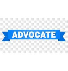 Blue stripe with advocate text vector