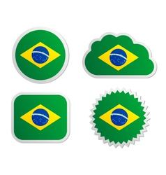 Brazil flag labels vector