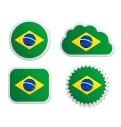 Brazil flag labels vector
