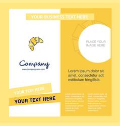 bun company brochure template busienss template vector image