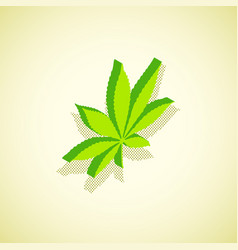 cannabis marijuana isometric design vector image