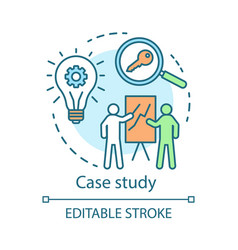 Case study concept icon decision making content vector
